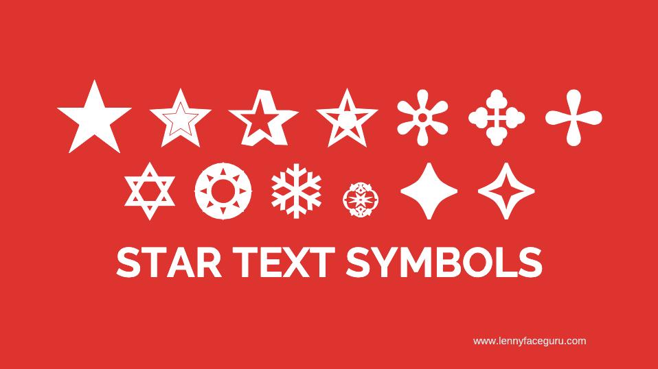 ✼ ✥ ✢ ✡ ❂ ❄ ۞ ✦ ✧ - Star Text Symbols - Star